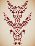 Abstract Tribal Art. Abstract tribal composition for use in tattoos, etc Stock Image