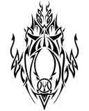 Abstract Tribal Art in black and white Royalty Free Stock Photo