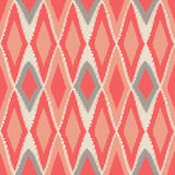 Abstract tribal art ethnic seamless Ikat pattern folk repeating Royalty Free Stock Photography