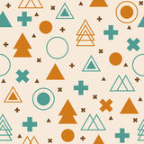 Abstract tribal background. Colorful geometric seamless pattern. Vector Stock Illustration