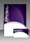 Abstract tribal brochure. Abstract purple brochure with white tribal design Royalty Free Illustration