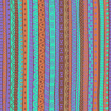 Abstract tribal doodle pattern. Royalty Free Stock Images
