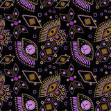 Abstract tribal ethnic background seamless pattern background Stock Photo