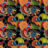 Abstract tribal ethnic geometrical pattern bright background Royalty Free Stock Image
