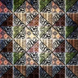 Abstract tribal ethnic geometrical pattern bright background Stock Photo