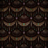 Abstract tribal ethnic geometrical pattern bright background Stock Image