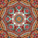 Abstract Tribal ethnic mandala round ornament. Abstract Tribal vintage ethnic mandala flower seamless pattern ornamental Royalty Free Stock Photography