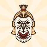 Abstract tribal ethnic mask concept design stock illustration