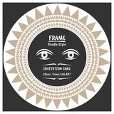 Abstract tribal ethnic pattern style vector frame . Native Invitation card. Folk style banner stock illustration