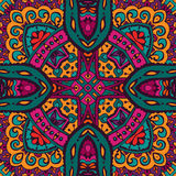 Abstract Tribal ethnic seamless pattern intricate. Abstract floral folk ethnic tribe seamless pattern ornament Royalty Free Stock Image