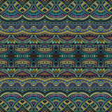 Abstract tribal ethnic seamless pattern Stock Image