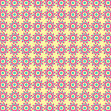 Abstract Tribal Flower Pattern Stock Images