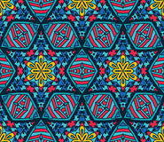Abstract Tribal mosaic ethnic seamless pattern. Abstract Tribal mosaic tiled  ethnic seamless pattern ornamental Royalty Free Stock Images
