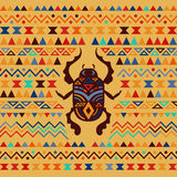 Abstract Tribal Ornamental Background Stock Photo