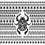 Abstract Tribal Ornamental Background Stock Photos