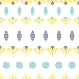 Abstract tribal shapes stripes seamless pattern Royalty Free Stock Photos
