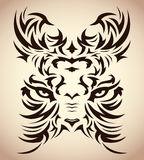 Abstract tribal tiger vector - tattoo - eyes Stock Images