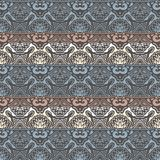 Abstract Tribal vintage ethnic paisley ornament. Seamless retro pattern. Royalty Free Stock Photo