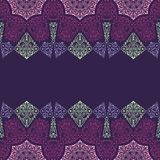 Abstract Tribal vintage ethnic paisley seamless pattern.. Stock Images