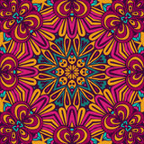 Abstract Tribal vintage ethnic seamless pattern. Ornamental. Bright festive sun mosaic Royalty Free Stock Image