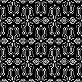 Abstract tribe dark ornament seamless vector pattern. Stock Photos