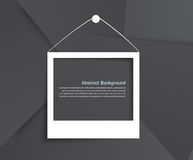 Abstract tripoid palaroid 20.08.2013. Photo frame. Shadow and gray and design illustration Stock Photo