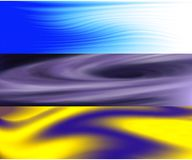 Abstract triptych wave and space stock illustration
