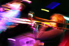 Abstract trombone concert Stock Images