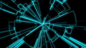 Abstract Tron Grid Loop stock video