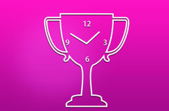 Abstract trophy clock Royalty Free Stock Image