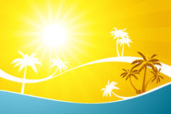 Abstract Tropical background Royalty Free Stock Photography