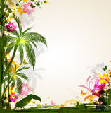 Abstract tropical background Stock Images