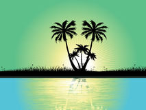 Abstract tropical background, vector wallpaper Royalty Free Stock Photo