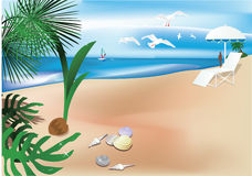 Abstract tropical backgrounds. Vector illustration Royalty Free Stock Photos