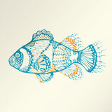 Abstract Tropical Fish Royalty Free Stock Images