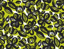 Abstract tropical floral seamless pattern vector illustration