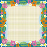 Abstract tropical frame. This graphic is abstract tropical frame Stock Photos