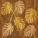 Abstract tropical jungle - seamless background - wood texture Royalty Free Stock Photography