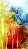 Abstract tropical landscape Royalty Free Stock Photo