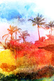 Abstract tropical landscape Stock Image