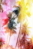 Abstract tropical landscape Stock Photo