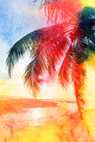 Abstract tropical landscape Stock Photography