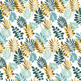 Abstract tropical leaves seamless pattern. In tender pastel color. Decorative nature surface design. vector illustration for print, card, poster, decor, header Royalty Free Stock Photos