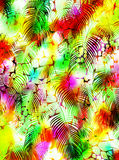 Abstract tropical palm tree animal skin pattern royalty free stock photos