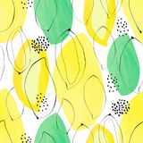 Abstract tropical pattern seamless vector pattern. Royalty Free Stock Photos