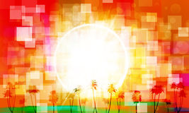 Abstract tropical sunrise Stock Image