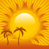 Abstract tropical sunset Royalty Free Stock Photography