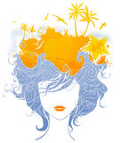 Abstract tropical woman. Royalty Free Stock Photo