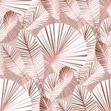 Abstract tropisch gebladerte naadloos patroon royalty-vrije illustratie
