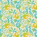 Abstract tropisch kleurrijk bloemen naadloos patroon royalty-vrije illustratie